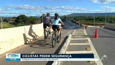 Ciclistas pedem segurança e mais sinalização de trânsito no Cariri - Confira mais notícias em g1.globo.com/ce
