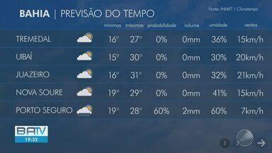 Veja como fica a previsão do tempo em Salvador e municípios da Bahia - Sol entre nuvens permanece na capital baiana e nos demais municípios.