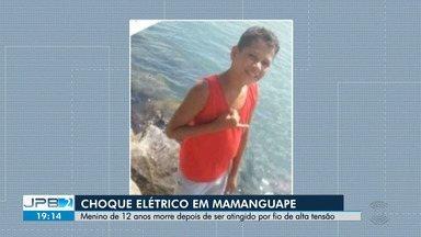 Menino de 12 anos morre depois de ser atingido por fio de alta tensão - Caso foi no Município de Mamanguape.