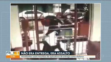 Assaltantes usam mochilas de aplicativos de entrega para roubar pedestres - Muitas ações têm acontecido no bairro do Grajaú, na zona norte.