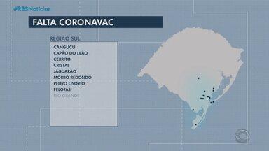 RS aguarda nova remessa da vacina CoronaVac - Estado depende da chegada de novas doses para regularizar aplicação da segunda dose da vacina contra Covid.