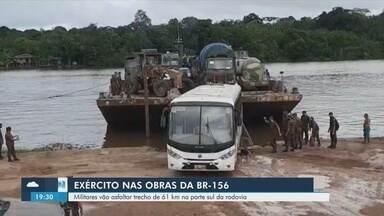 Exército vai asfaltar trecho de 61 quilômetros da BR-156, no Amapá - Exército vai asfaltar trecho de 61 quilômetros da BR-156, no Amapá