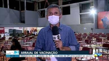 Grande São Luís terá 'Arraial de Vacinação' para pessoas com até 29 anos - Ao vivo, o repórter Werton Araújo deu mais informações.