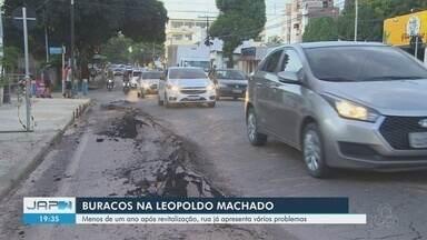 Rua Leopoldo Machado em Macapá volta a apresentar problemas em menos de um ano - Rua Leopoldo Machado em Macapá volta a apresentar problemas em menos de um ano