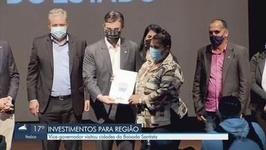 Vice-governador visita cidades da Baixada Santista - Rodrigo Garcia esteve na região acompanhado de outras autoridades estaduais.