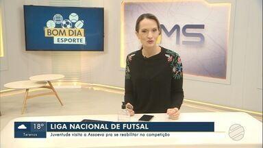 Juventude visita Assoeva pela Liga Nacional de Futsal - Time de MS quer se reabilitar na competição.