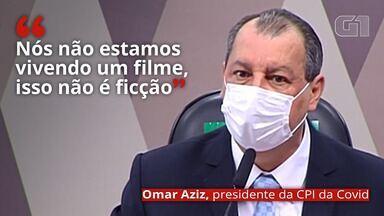 VÍDEO: 'Nós não estamos vivendo um filme, isso não é ficção', diz Omar Aziz sobre pandemia