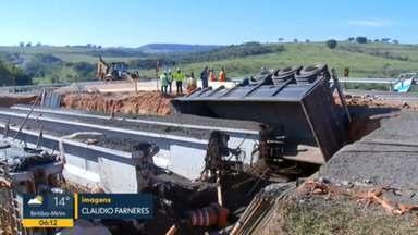 Motorista morreu depois de cair em buraco de obra - O acidente foi em uma estrada entre as cidades de Marília e Echaporã