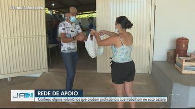 Moradores fazem comida e doam alimentos aos policiais durante procura a Lázaro Barbosa - Rede de apoio atua nos bastidores da força-tarefa.