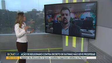 Roger Pereira: ação de Bolsonaro contra decreto de Ratinho não deve prosperar - Apesar da discussão à época, medidas seguiram válidas no Paraná.