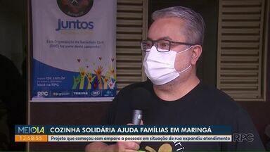 Cozinha Solidária ajuda famílias em Maringá - Projeto que começou com amparo a pessoas em situação de rua expandiu atendimento.