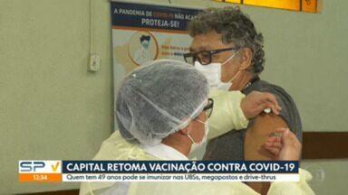 Capital retoma vacinação para pessoas com 49 anos - Prefeitura recebeu 181,6 mil doses, mas ainda precisa de mais imunizantes para atender próximos grupos do calendário de vacinação.