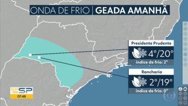 Frente fria derruba temperaturas em todo o estado - A previsão é de geada em cidades como Presidente Prudente e Rancharia.