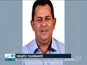 Morre Ronei Alencar, prefeito de São Francisco do Brejão - Causa da morte foi um infarto fulminante.
