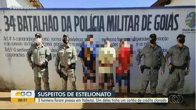 Suspeitos de estelionato são presos em Itaberaí - Comerciante suspeitou de cartão clonado e acionou a polícia.