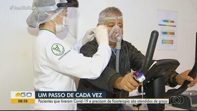 Pacientes graves da Covid-19 passam por reabilitação - Após a recuperação, pessoas que tiveram a doença precisam reaprender a fazer atividades diárias.