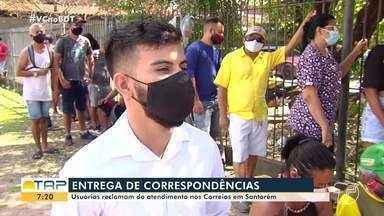 Usuários reclamam do atendimento nos correios em Santarém - Usuários estão revoltados com a demora para entrega de encomendas.