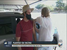 Araraquara realiza plantão de vacinação contra a Covid-19 - Imunização será até as 16h deste sábado (03).