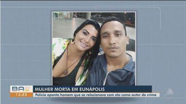 Mulher é morta dentro de casa e marido é suspeito do crime em Eunápolis - De acordo com a polícia, ela foi morta após uma briga, no sábado (3).