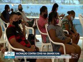 Covid-19: Imunização avança nos municípios da Grande Ilha - Campanha de vacinação contra Covid-19.