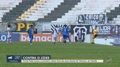Ponte Preta enfrenta Náutico, que lidera a Série B do Campeonato Brasileiro - Partida ocorre nesta segunda-feira (12), às 20h.