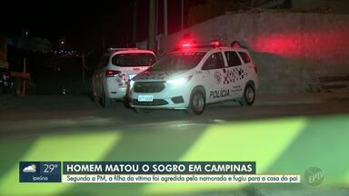 Polícia inicia buscas por suspeito de matar sogro em Campinas - Segundo a Polícia Militar, filha da vítima foi agredida pelo namorado e fugiu para a casa do pai.