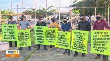 Moradores protestam contra mudança no trânsito da Avenida Nestor Sampaio em Aracaju - Moradores protestam contra mudança no trânsito da Avenida Nestor Sampaio em Aracaju.