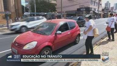 Araraquara começa campanha de conscientização para motociclistas - Até junho deste ano já foram 5 mortes em acidentes.