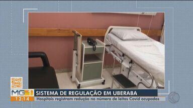 Ocupação de leitos para Covid-19 tem queda em Uberaba - De acordo com a Secretaria Municipal de Saúde, os hospitais que atendem casos da doença têm registrado redução no número de leitos ocupados. Mesmo assim, o momento ainda é de atenção e o monitoramento das unidades será mantido.