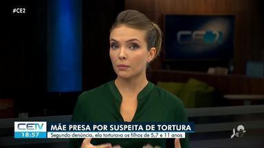 Mãe é presa suspeita de tortura em São Gonçalo do Amarante - Confira mais notícias em g1.globo.com/ce
