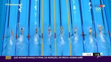 Luiz Altamir avança à final da natação, na prova 4x200m livre - Luiz Altamir avança à final da natação, na prova 4x200m livre