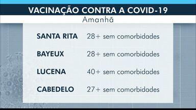 Confira como anda a vacinação contra Covid-19 na Região Metropolitana de João Pessoa - Lucena é o município mais atrasado.