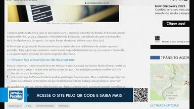 Inscrições para o Fies se encerram nesta sexta-feira (30) - Confira os detalhes no Jornal da Paraíba.