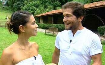 """Sarah Oliveira entrevista Daniel - A repórter do Video Show mostra que o cantor não vai precisar de laboratório para a novela """"Paraíso"""". Entenda!"""