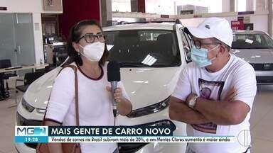 Vendas de carros no Brasil subiram mais de 30%, e em Montes Claros aumento é maior ainda - Dado é referente ao primeiro semestre do ano.