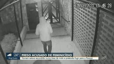Vídeo mostra momento em que suspeito de matar ex deixa apartamento em Campinas - Crime ocorreu no Jardim Chapadão, na madrugada de domingo (1)
