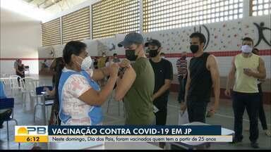 Veja como foi a vacinação contra a Covid-19 neste fim de semana, na Paraíba - Mesmo com o dia dos pais, o cronograma de vacinação não parou.