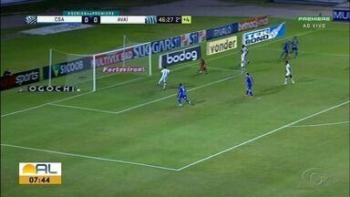 CSA empata com Avaí no Rei Pelé - Azulão continua na quarta colocação da Série B