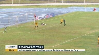 Amapazão: Independente vence Santana e retoma liderança do estadual - Carcará marcou com Waldeci no final do 1º tempo e perdeu grandes chances de resolver o jogo. Santana segue sem vencer.
