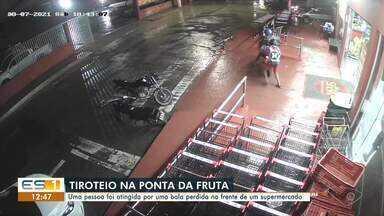 Homem é ferido por tiro de bala perdida em Vila Velha - Assista.