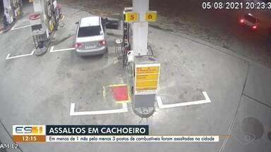 Criminosos assaltam postos de gasolina no interior do ES - Assista.