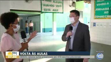 470 escolas do Piauí retomam aulas presenciais - 470 escolas do Piauí retomam aulas presenciais