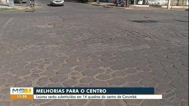 Agência vai trocar pavimento no centro de Corumbá - 14 quadras serão contempladas