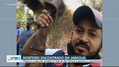 Morteiro é encontrado em Jaraguá - Objeto é o segundo achado no Vale do São Patrício e pertence à aeronáutica.