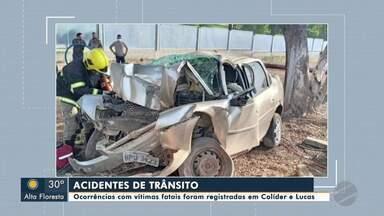 Acidentes de trânsito em cidades do nortão de Mato Grosso - Ocorrências com vítimas fatais foram registrados em Colíder e Lucas