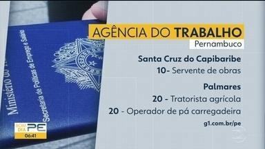 As vagas de emprego na Agência do Trabalho em Pernambuco - Separamos algumas vagas para hoje
