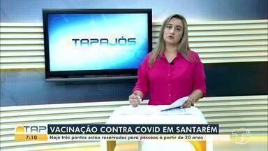 Três pontos disponibilizam vacinas anti-Covid em Santarém nesta sexta-feira - Vacinação ocorre durante todo o dia.