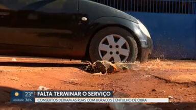 Consertos da Caesb deixam ruas estragadas - Reclamação veio de moradores de Ceilândia, do Guará e de Samambaia.