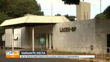 Secretaria de Saúde confirma mais 7 casos da variante Delta no DF - Com isso, o total de infectados pela cepa do coronavírus já chega a 82.