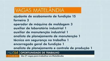 Confira as oportunidades de trabalho desta sexta-feira (13) - São 27 vagas para trabalhar em Matelândia.